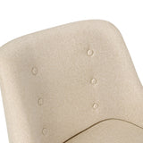 Fabric Dining Armchair Beige - OZZIEBARGAINS