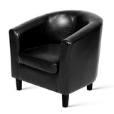PU Leather Dining Armchair Black - OZZIEBARGAINS