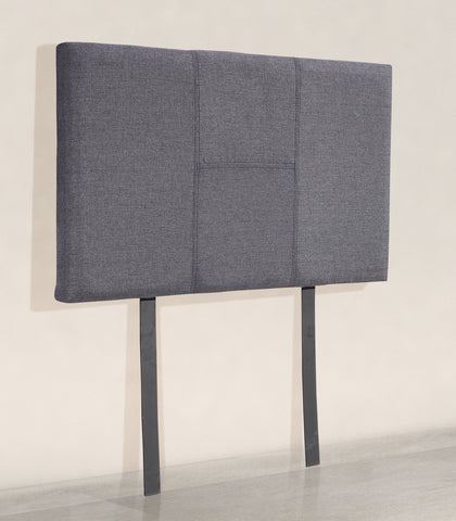 Linen Fabric Single Bed Headboard Bedhead - Grey