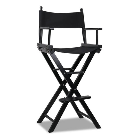 Tall Director Chair - Black