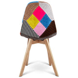 Set of 2 Replica Eames Dining Chairs Fabric - OZZIEBARGAINS