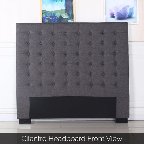 Cilantro Double Charcoal Headboard - OZZIEBARGAINS