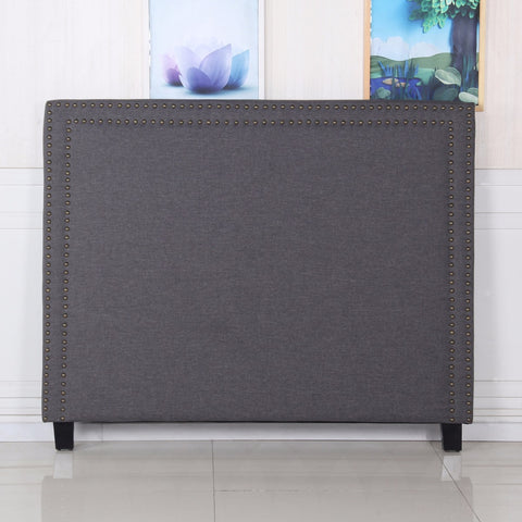 Enzo Queen Charcoal Headboard - OZZIEBARGAINS