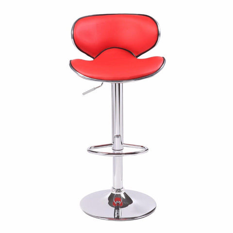 2 X Bela Bar Stool Red - OZZIEBARGAINS