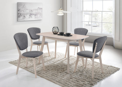 4 Seater Dining Table Solid hardwood White Wash - OZZIEBARGAINS