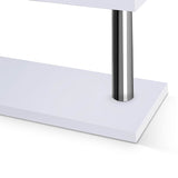 Office Computer Desk Corner Table w/ Bookshelf White - OZZIEBARGAINS