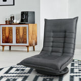 Swivel Foldable Floor Chair - Charcoal - OZZIEBARGAINS