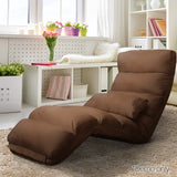 Lounge Sofa Chair - 75 Adjustable Angles – Brown - OZZIEBARGAINS
