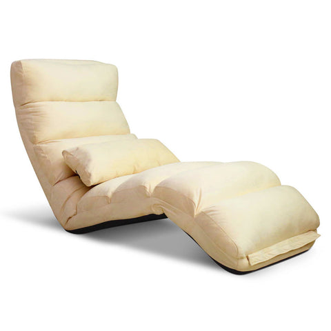 Lounge Sofa Chair - 75 Adjustable Angles – Taupe - OZZIEBARGAINS