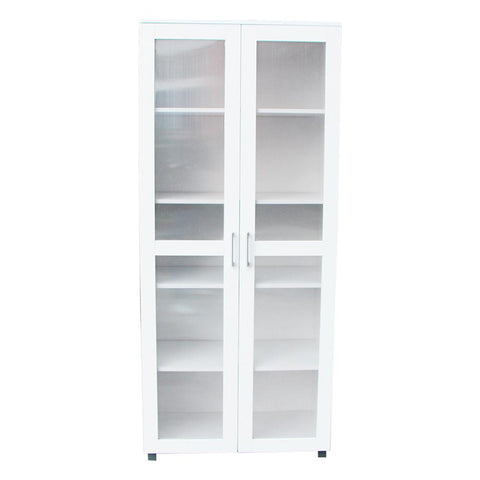Aspen Double Door Cupboard - White - OZZIEBARGAINS
