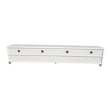 Elisha High Gloss Entertainment Unit - White - OZZIEBARGAINS
