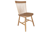 Simple Living Ari Solid Oak Set of 2 Dining Chairs - OZZIEBARGAINS