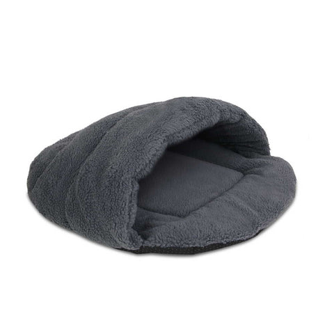 Cave Style Pet Bed Grey - Large - OZZIEBARGAINS