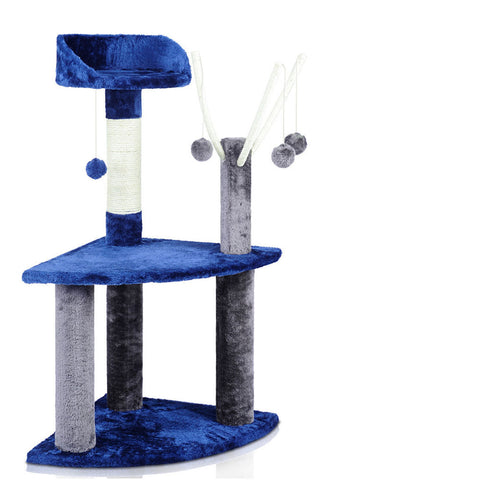 95cm Cat Scratching Post - Blue & Grey - OZZIEBARGAINS
