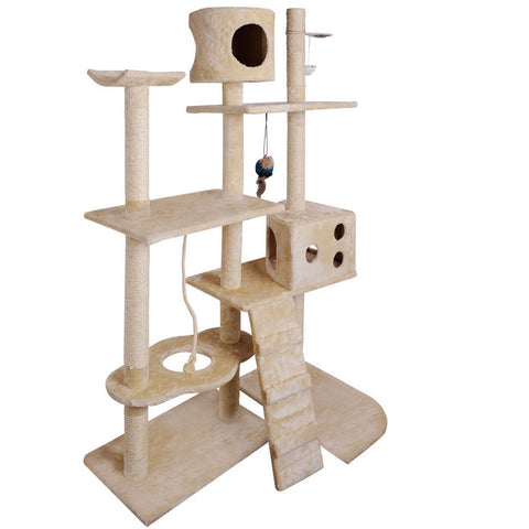 Cat Scratching Poles Post Furniture Tree 170cm Beige - OZZIEBARGAINS