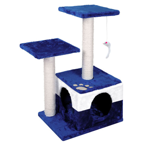 Cat Scratching Poles Post Furniture Tree House Blue