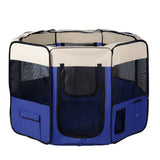 Pet Dog Puppy Cat Exercise Playpen Crate Cage Tent Blue - OZZIEBARGAINS