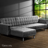 Faux Linen Sofa Bed 5 Seater - OZZIEBARGAINS