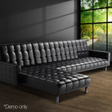 PU Leather Sofa Bed 5 Seater - OZZIEBARGAINS