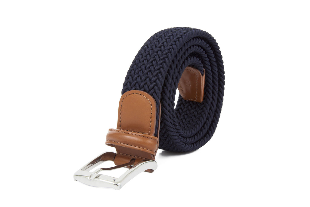 MEN WOVEN BELT CAMEL BUCKLE
