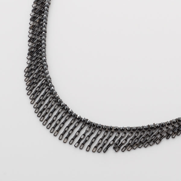 CMS/ Necklace, Oxitized Silver & Hametite