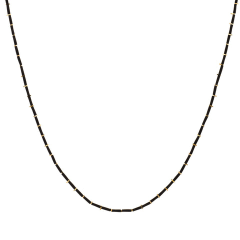 KIS/ Fine Necklace, Black & Gold
