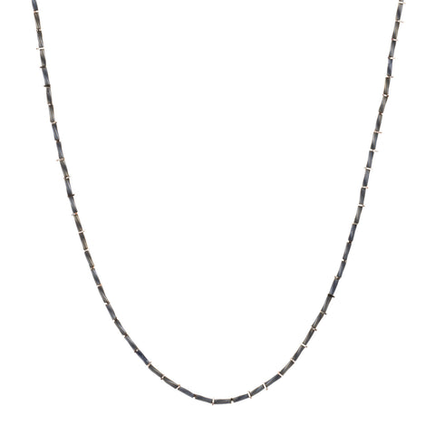 KIS/ Fine Necklace, Silver & Gray