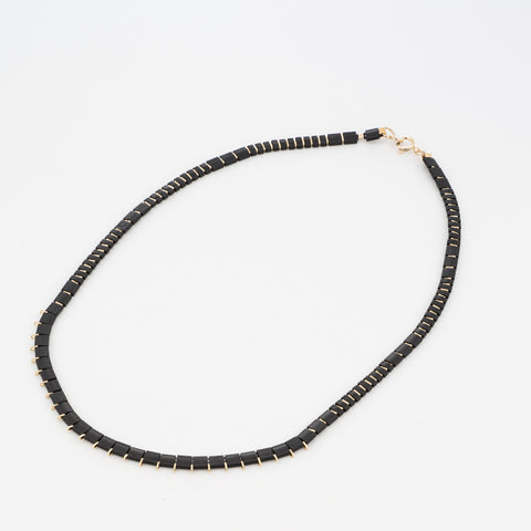 KIS/ Short Necklace, Gold & Black