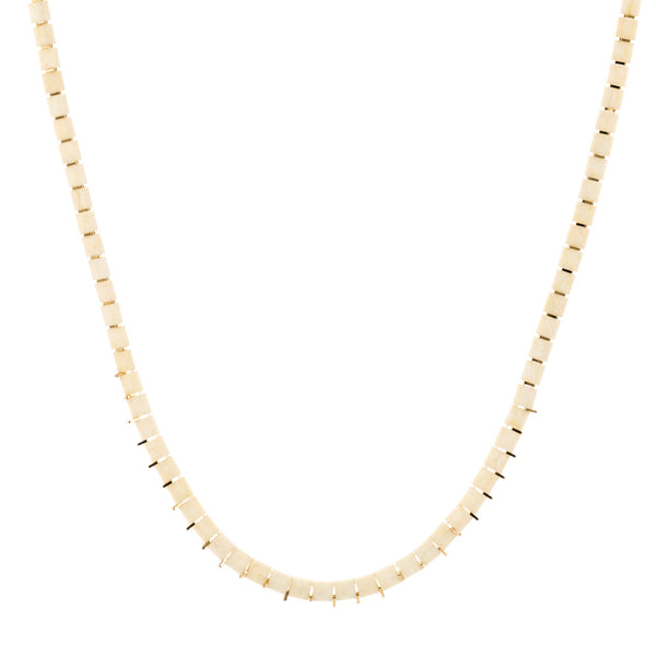 KIS/ Short Necklace, Gold & Ivory