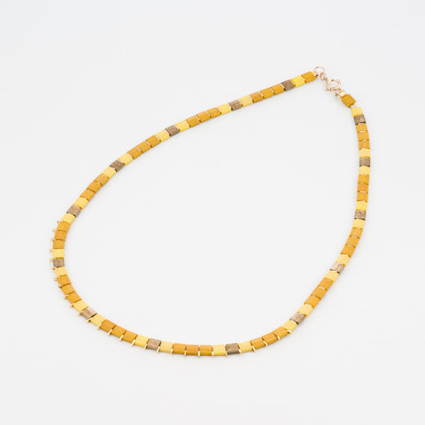 KIS/ Short Necklace, Gold & Mustard