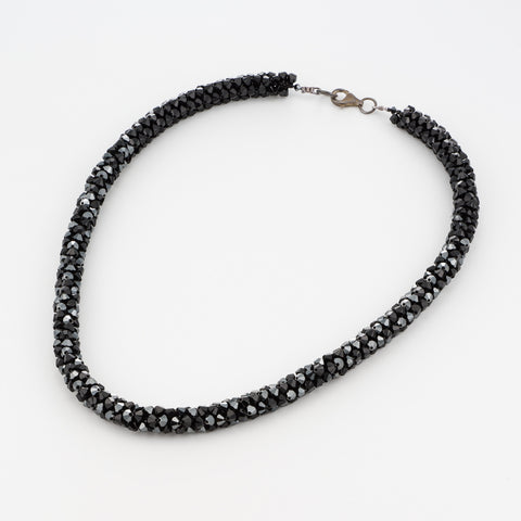 TROPICANA/ ROPE Necklace, Black