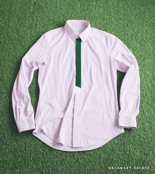 Mens Dress Shirt #02 Classic Collar Angled Cuff Elastic Functional Slim Fit Long Sleeves