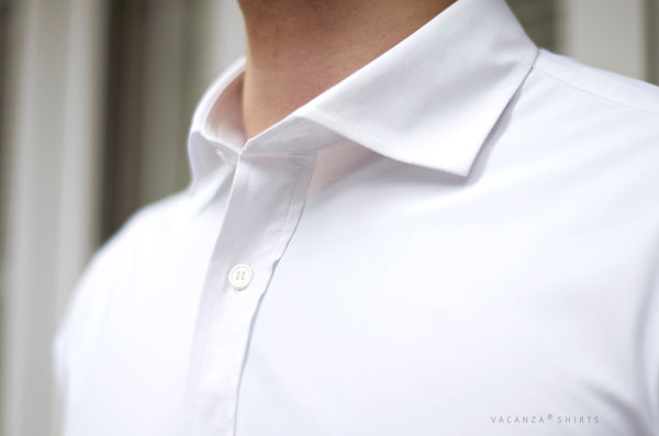Men's Dress Shirt #07 British Spread Collar Convertible Cuff Long Sleeves