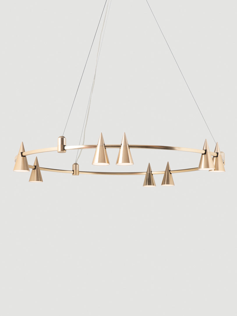 Harper contemporary pendant with cone LED fittings