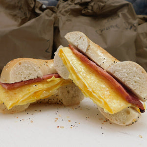 Egg, Turkey Bacon, & Cheese Breakfast Sandwich