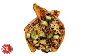 Turkey Chili in Sweet Potato Cups
