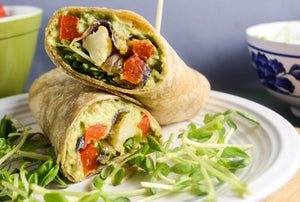 Greek Salad Whole Wheat Roll-Up