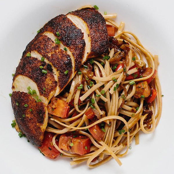 Blackened Chicken Primavera