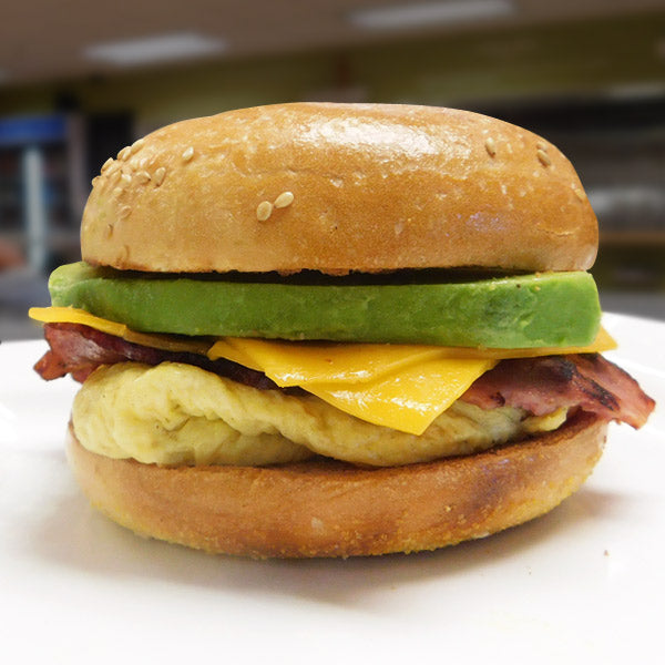 Turkey Bacon, Avocado,  Egg, Cheese Breakfast Sandwich