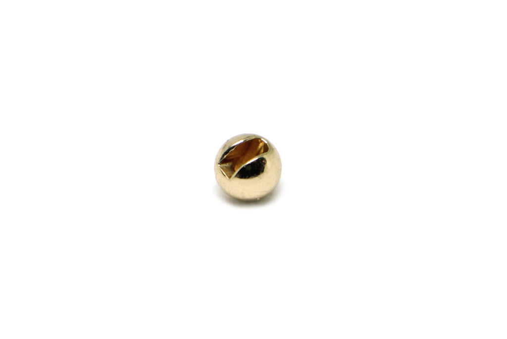 Fulling Mill Slotted Tungsten Bead Gold