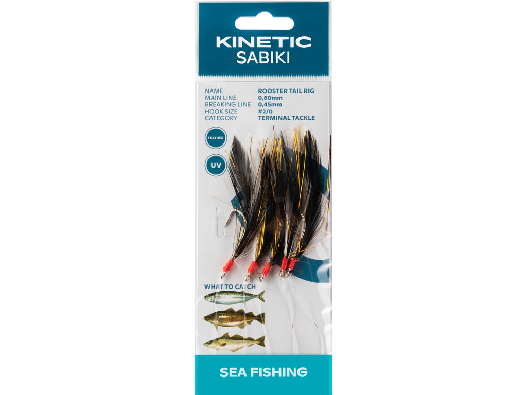 Kinetic Rooster Tail Rig Black/Copper