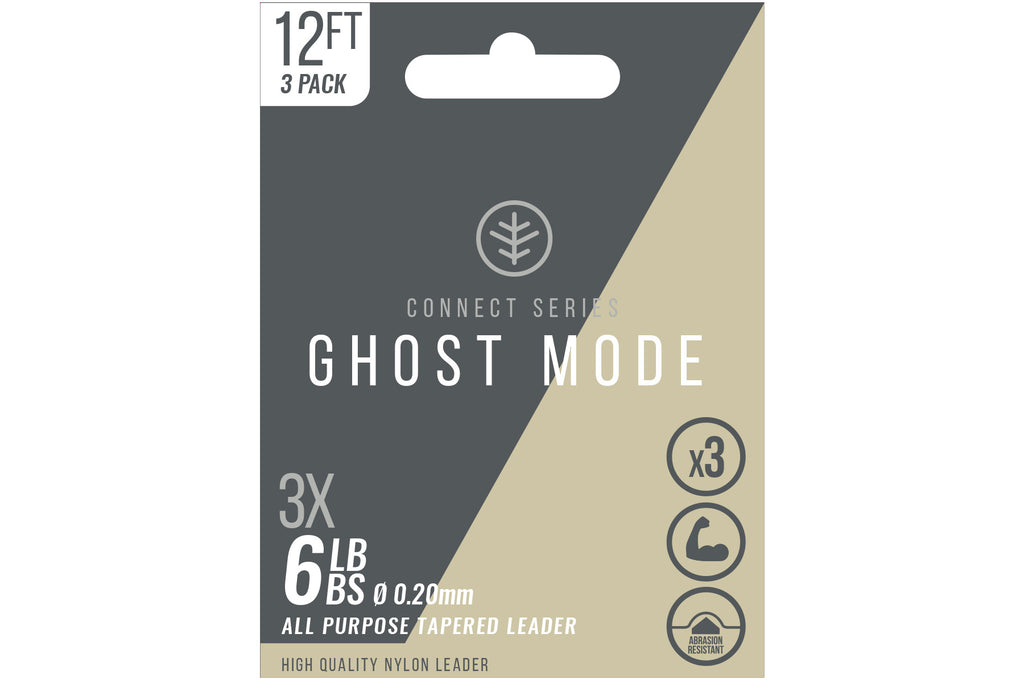 Wychwood Ghost Mode Tapered Leaders 3X 9ft 6lb