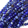 4mm synthetic lapis blue sea sediment jasper round beads 15.5