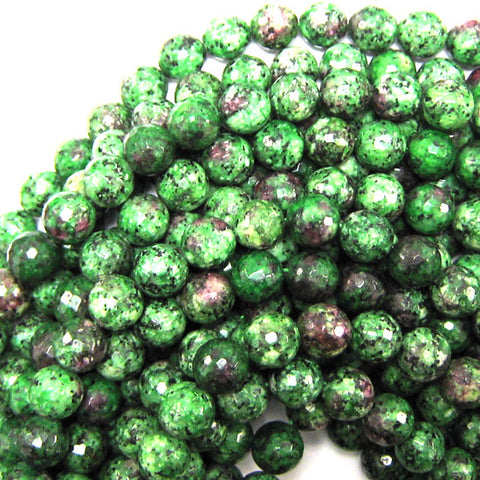 "Natural Green African Jade Round Beads 15.5"" Strand S2 4mm 6mm 8mm 10mm 12mm"