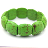 21mm green turquoise stretch bracelet 8