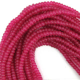 6mm magenta mountain jade rondelle beads 16