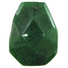 2 pieces 40mm faceted emerald green jade ladder bead pendant