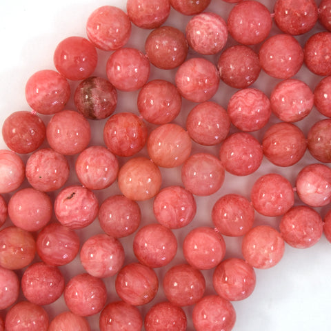 "4mm faceted Madagascar pink rose quartz round beads 15.5"" strand"