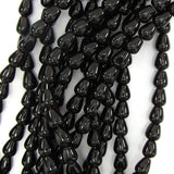 10mm brown quartz teardrop beads 16