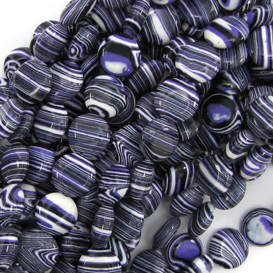 "12mm purple rainbow calsilica coin beads 16"" strand"